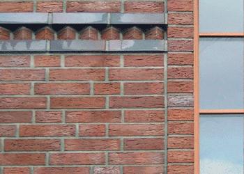 Klinkerfassade Detail