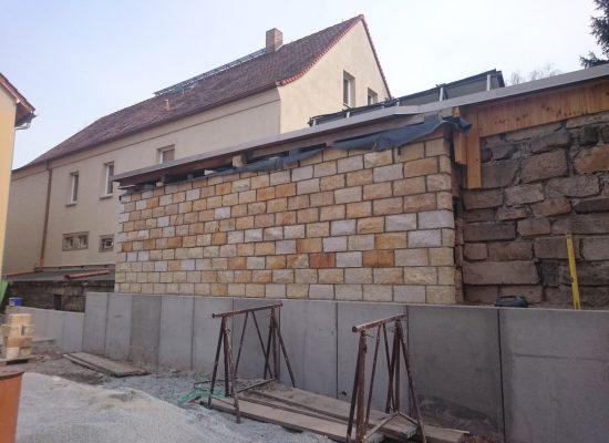 Klinkerbau Sandstein Mauerwerk Dresden
